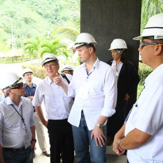 Michael Sieg and ThomasLloyd delegation at San Carlos Bioenergy