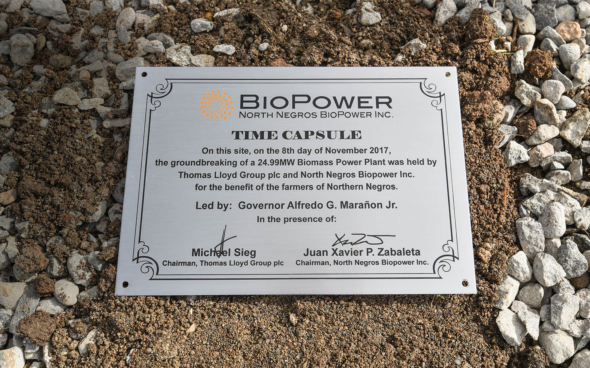 TL North Negros Biopower Groundbreaking